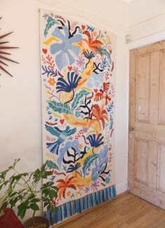 Decorbuddi: The story of the creation of beautiful, original embroidered art to add colour and life, and create a more personal home Modern Tapestries, Decoration Inspiration, Art Textile, Punch Needle, Rug Hooking, Fabric Art, Wall Tapestry, Fiber Art, Wall Art