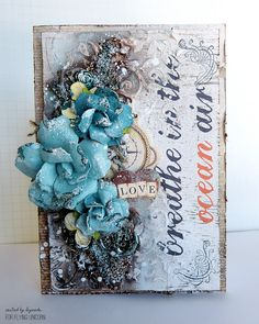 Mixed media cards plus a video tutorial made with products  from May Flying Unicorn Kit of The Month