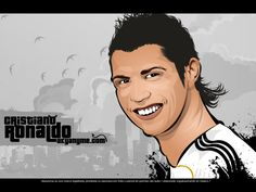 Cartoon Pictures of Cristiano Ronaldo