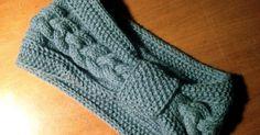 FREE Headband/Earwarmer Knitting Patterns – The Lavender Chair Cabled Headband Free Knitting Pattern Bandeau Crochet, Knit Or Crochet, Crochet Hats, Crochet Ideas, Knitting Patterns Free, Knit Patterns, Free Knitting, Knitting Club, Knitted Headband Free Pattern