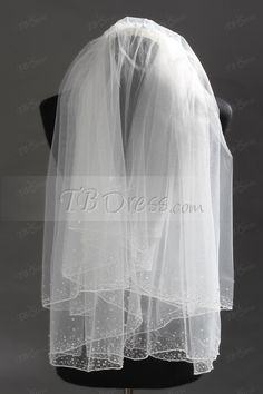 Delicate Elbow Tull Wedding Bridal Veil with Rhinestone : Tbdress.com Delicate Elbow Tull Wedding Bridal Veil with RhinestoneItem Code: 10430384