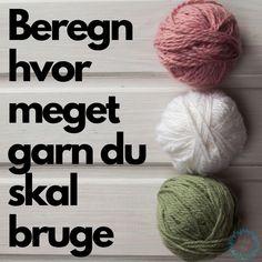 Løbelængde og garnforbrug Hand Knitting, Knitting Patterns, Crochet Patterns, Drops Design, Diy Crochet, Crochet Baby, Drops Baby, Crochet Monsters, Crochet Instructions