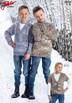 Kid's basic knits in our brand new yarn Rio.