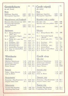 DDR-Preise Gaststätten-Speisekarte | DDR (GDR) | Pinterest