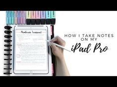 How to take notes on an iPad Pro. Ipad Pro Note Taking, Note Taking Tips, Taking Notes, Ipad Pro Tips, Ipad Hacks, College Notes, School Notes, Law School, High School
