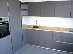 Modernes Haus Küche Grau Matt Kche Anthrazit Eiche Deeviz For Gallery