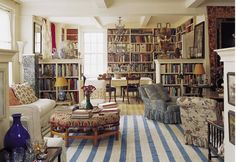 NYC apartment of Carolina Irving. I love how the entire living space is also a library. Interior Exterior, Best Interior, Halls, Manhattan Apartment, York Apartment, Home Libraries, Interior Decorating, Interior Design, Decorating Ideas