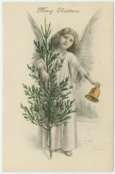 'Merry Christmas' (circa 1912). Artist E. Reckziegel. Image and text courtesy NYPL Digital Gallery.