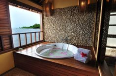 Our Suite bathtub #Accommodation #Holiday #Vacation #Manado #Indonesia #Asia #Cocotinosmanado #Northsulawesi