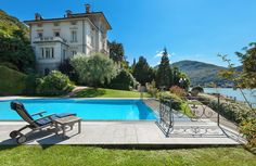 Christie's International Real Estate in Figino, Ticino represented by Ueli Schnorf of Wetag Consulting Immobiliare SA. International Real Estate, Luxury Homes, Swimming Pools, Villa, Exterior, Mansions, Architecture, House Styles, Outdoor Decor