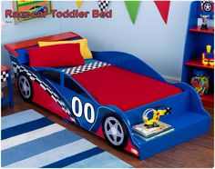 KidKraft Race Car Toddler Bed/Set that I bought for my grandson...  So cute!!