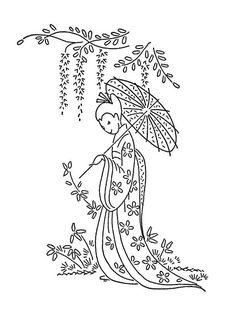 Parasol Lady
