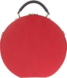 Dolce & Gabbana Red Round Tote