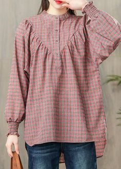 new pink plaid cotton blouse casual loose long sleevel tops - new pink plaid cotton blouse casual loose long sleevel tops Source by DressOriginal - Stylish Dresses For Girls, Trendy Clothes For Women, Trendy Outfits, Girls Dresses Sewing, Casual Tops For Women, Pakistani Dresses Casual, Pakistani Dress Design, Frock Design, Frock Fashion