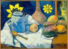 Paul Gauguin 1896 Still Life with Teapot and Fruit - NYC MET