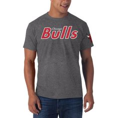 huge selection of 8e738 a3bf5  47 Brand Chicago Bulls All Bright Fieldhouse T-Shirt - Charcoal Nba  Chicago Bulls.