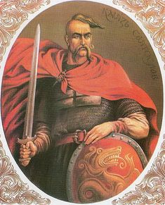 viatoslav I Igorevich, also spelled Svyatoslav was a Grand prince of Kiev famous for his persistent campaigns in the east and south, which precipitated the collapse of two great powers of Eastern Europe, Khazaria and the First Bulgarian Empire. He also conquered numerous East Slavic tribes, defeated the Alans and attacked the Volga Bulgars, and at times was allied with the Pechenegs and Magyars. His decade-long reign over the Kievan Rus' was marked by rapid expansion.