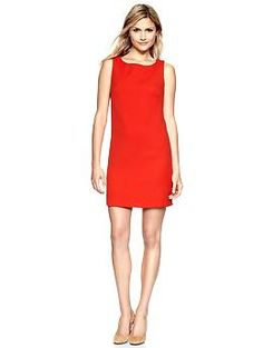 Sleeveless Zipper Shift (Bright Red). Gap. $59.95
