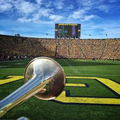 Just another day in the office. #GoBlue #MarchingBand