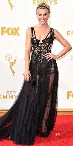 Julianne Hough - Emmys 2015 Red Carpet Arrivals - in Marchesa - from InStyle.com