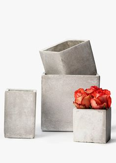 Square Cement Containers