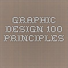 graphic design 100 principles