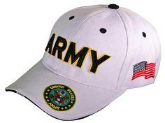 e3acd4988ee U.S. Army Hat White ARMY Baseball Cap Military Headwear
