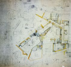 Carlo Scarpa - Ottolenghi House drawings