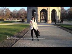 Video visiting beautiful Munich Hofgarten park - with a white winter coat, black leather boots and Starbucks winter cup :) Munich/München, Germany/Deutschland
