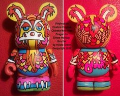 """Custom 3"""" Pop Art Toy Chinese Dragon Vinylmation by Howie Green"""