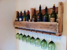 Wine Rack Reclaimed Rustic Wood Handmade by GreatLakesReclaimed, $59.00. I think I'll buy this when I move in a couple months for the new place.