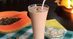 Vitamina Detox de Mamão, Aveia e Chia Zero Lactose | Dicas de Saúde