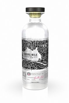 Bluemarlin designs graphics for Square Mile London Dry Gin | Flickr - Photo Sharing! Beverage Packaging, Bottle Packaging, Pretty Packaging, Brand Packaging, Bottle Labels, Design Packaging, Branding Design, Vodka Bottle, London Dry Gin