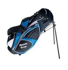 Paragon Golf Rising Star Jr Golf Bag with Stand, Blue - Lightweight stand design/construction. 3 pockets include full length garment pockets and large front accessories pocket. Golf Stand Bags, Golf Bags, Junior Golf Clubs, Crazy Golf, Best Friend Shirts, Funny Sweatshirts, Kim Deal, Golf Accessories, Special Deals