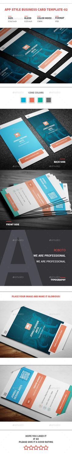 The 158 best business card templates images on pinterest business app style business card template 02 creative business cards reheart Choice Image