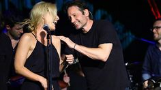 'X-Files' Stars David Duchovny and Gillian Anderson at The Cutting Room May 12 2015