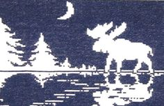 Cross Stitch, Needlecraft and Embroidery Patterns by The Stitchworks Cross Stitching, Cross Stitch Embroidery, Cross Stitch Patterns, Needlepoint Christmas Stocking Kits, Hunting Crafts, Moose Silhouette, Punch Needle Patterns, Latch Hook Rugs, Rug Hooking Patterns