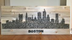 You have to see City Skyline String Art by cmorganstern!