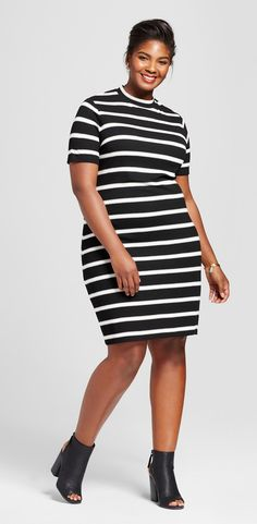 Plus Size Ribbed T-Shirt Dress