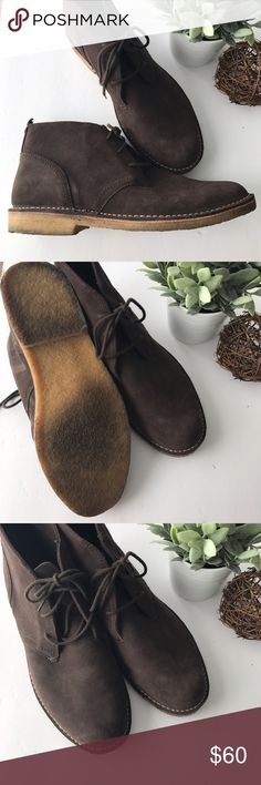 LLBEAN men's chukka brown suede leather boots - LL Bean men's chukka boots - excellent used condition with minimal signs of wear to the soles - laces in excellent condition  - exterior leather is clean - size 14W (wide) - retailed for $140 - check my other listings // bundle discount! L.L. Bean Shoes Chukka Boots