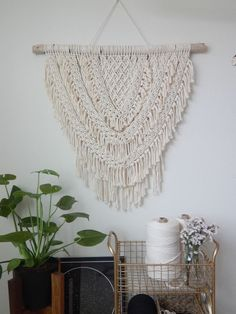 Work from home office decor from Larks and Leo on Etsy! Featuring modern bohemian macrame designs and more! Bring out your boho with this beautiful home decor. Click image to shop Large Macrame Wall Hanging, Hanging Wall Art, Home Office Decor, Home Decor Bedroom, Bohemian Wall Decor, Boho Tapestry, Decorating Your Home, Decorating Ideas, Decor Ideas