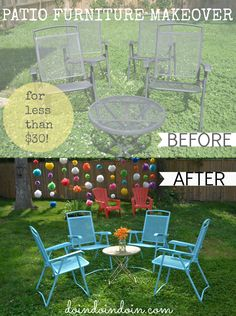 Easy patio furniture makeover on a budget!