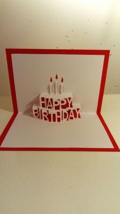 Pop up verjaardagskaart
