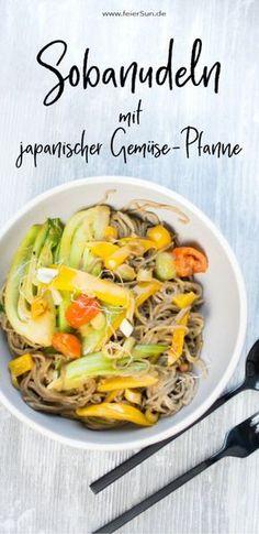 Lecker und gesund. Sobanudeln mit japanischer Gemüse-Pfanne sind ein knackiges Rezept. Es ist ballaststoffreich und nicht nur vegetarisch, sondern auch vegan und laktosefrei. Step by Step zeige ich dir im Video wie du dieses leckere Gericht schnell und einfach auf den Tisch zauberst. #feierSun #feierSunFood #kochen #gesund #lecker #rezept #Nudeln #asiatisch #japanisch #vegan #pakchoi #laktose