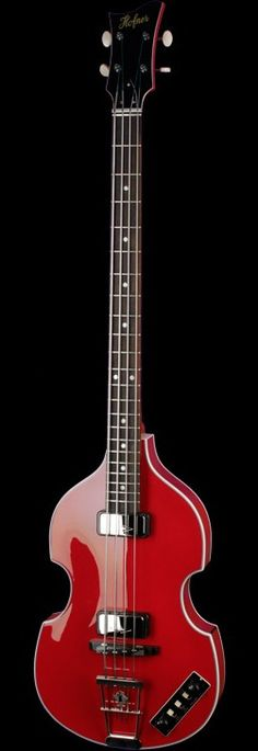 HOFNER Dresden Violin Bass Wine Red
