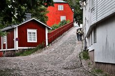 Finland: Porvoo old town Stock Image Commercial Design, Helsinki, Royalty Free Photos, Old Town, Finland, Shed, Outdoor Structures, World, House Styles