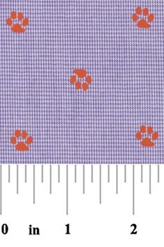 Embroidered Seersucker Fabric Tiger Sports Team Fabric Finders