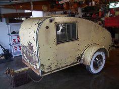 Antique Teardrop Jim Dandy Camper Vintage Barn Find