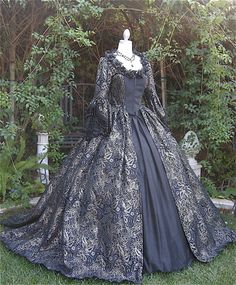 Featured on My Fair Wedding! Gothic Antoinette Gown