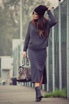 Steal The Fashion: Grey one Grey-Street Fashion